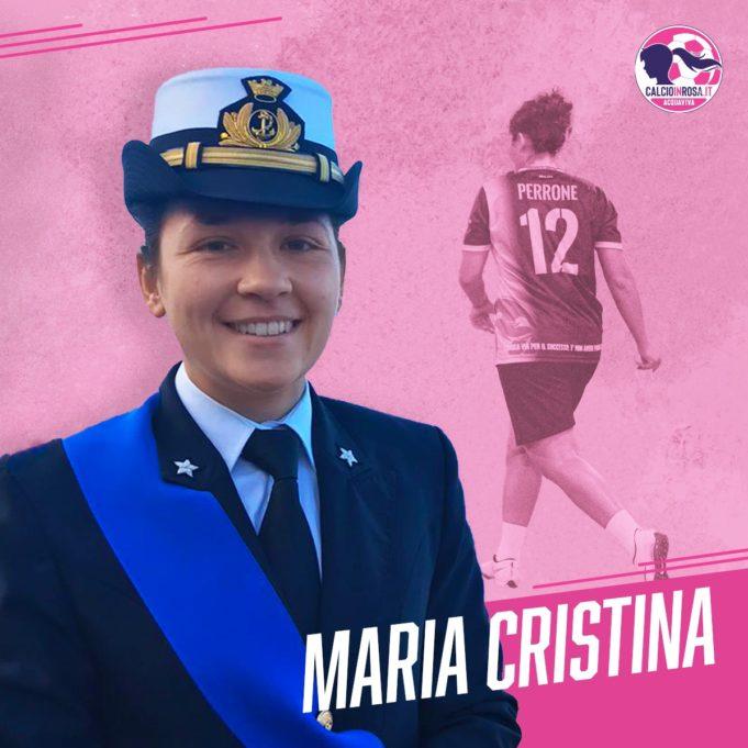 Maria Cristina Perrone, ufficiale della Marina Militare Italiana e calciatrice dell'ASD Calcioinrosa Acquaviva