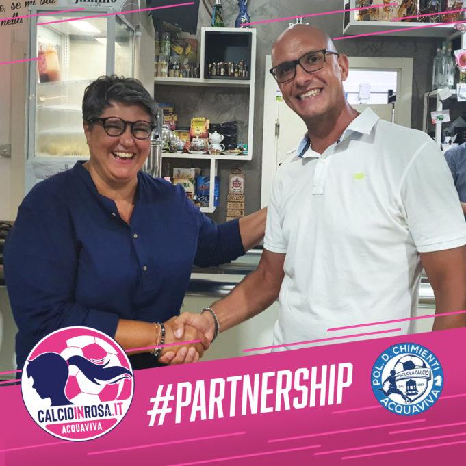 Partnership tra ASD Calcioinrosa Acquaviva e Polisportiva Chimienti