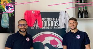 Giuseppe Bonavoglia e Marco Abiusi, mister della Calcioinrosa Acquaviva